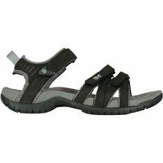 Teva Tirra Leather Sandaal Dames Zwart