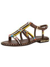 Sandaaltje Ash bruin/multicolor