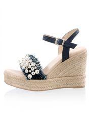 Sandaaltje Alba Moda jeansblauw