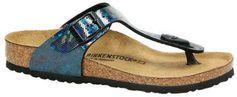 Birkenstock cl Gizeh teenslippers blauw/zwart