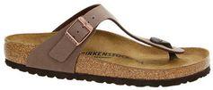 Birkenstock Gizeh teenslippers bruin
