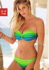 Venice Beach beugelbikini in bandeaumodel in een trendy streep-look
