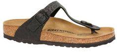 Birkenstock Gizeh teenslippers panterprint zwart
