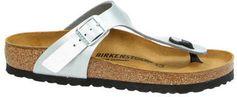 Birkenstock Gizeh teenslippers zilver
