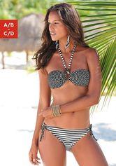 s.Oliver RED LABEL Beachwear bandeaubikini in coole motievenmix