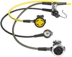 Subea Set van ademautomaat, manometer en octopus SCD 500 DIN 300 gebalanceerde piston