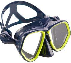 Subea Duikbril met twee aparte glazen SCD 500 blauwe mantel en fluo rand