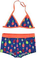 Just Beach blauwe triangle bikini met ananassen Apple Pineapple