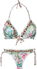 Triangle Bikini Flowers Acqua