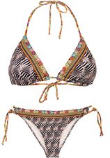 Triangle Bikini Animal Brown