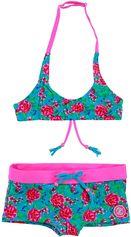 Zee & Zo halter meisjes bikini Daisy Flower Blue