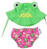 Zoocchini Flippy the frog zwemluier + zonnehoedje maat M