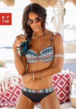 Lascana bikinitop met beugels Marrakesh met trendy print