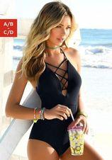 Modellerend badpak van Venice Beach in zwart