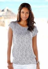 Lascana lang shirt met brede tailleband (Set van 2)