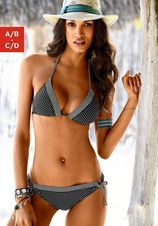 s.Oliver RED LABEL Beachwear triangel-bikinitop Avni met patroonmix