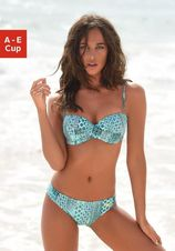 Lascana beugelbikini in bandeaumodel in patchwork-look