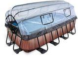 EXIT Premium zwembad Wood met overkapping (400x200 cm)