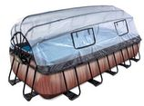 EXIT Premium zwembad Wood met overkapping (540x250 cm)