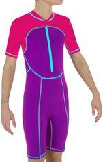 Nabaiji Zwemshorty voor meisjes roze/paars
