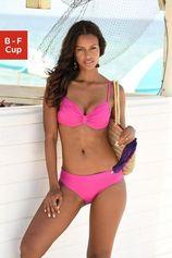 Lascana bikinitop met beugels Italy met aangerimpeld midden