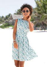 LASCANA scuba-jurk met veren-print