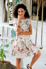 LASCANA scuba-jurk met bloemmotief