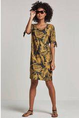 whkmp's beachwave jurk met palmprint