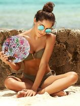 Bikini V-Bandeau Kaki Groen