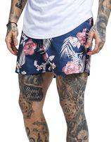 SikSilk Floral All Over Print Swim Shorts Heren - Blauw - Heren