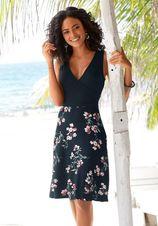 Beachtime strandjurk met gedessineerde rok