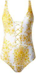 Seafolly Sunflower badpak met rijgdetail en bloemendessin