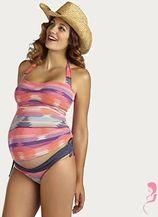 Pez D'or ZwangerschapsTankini / PositieTankini Pink Striped