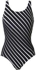 Tweka badpak met streepdessin zwart/wit