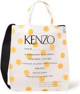 KENZO PVC semi-transparante shopper met stippendessin