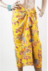 Gele sarong met vlinderprint