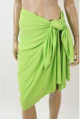 Effen rekbare lime groene sarong