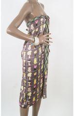 Pareo met strikband en Paris fashion girls print