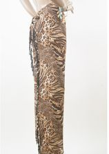 Wikkel strandbroek in panter print