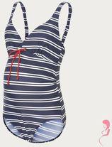 Mamalicious ZwangerschapsBadpak / PositieBadpak Josefine Striped Zwart
