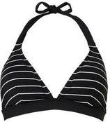 ESPRIT Women Beach gestreepte halter bikinitop zwart