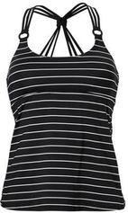ESPRIT Women Beach gestreepte tankini bikinitop zwart