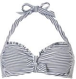 ESPRIT Women Beach gestreepte halter bikinitop marine