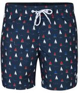 WE Fashion zwemshort in all over print marine