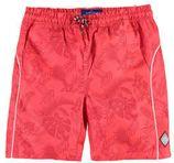 WE Fashion zwemshort met all over print koraal