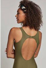 whkmp's beachwave corrigerende badpak met mesh groen