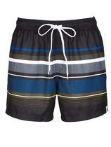 Zwemshort Wavebreaker zwart/blauw/olijf