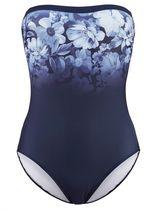 Badpak Alba Moda blauw gebloemd
