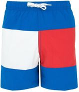 jongens medium drawstring short flag blue