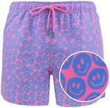 twisted smile short roze & blauw
